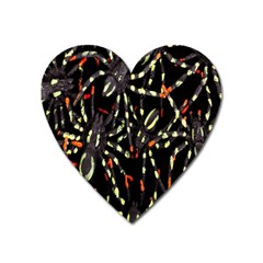 Spiders Colorful Heart Magnet