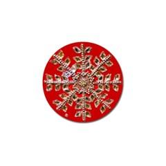 Snowflake Jeweled Golf Ball Marker (4 Pack) by Nexatart
