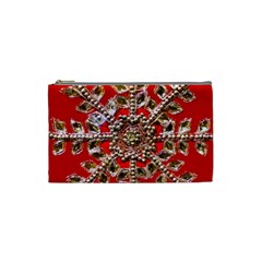 Snowflake Jeweled Cosmetic Bag (small)