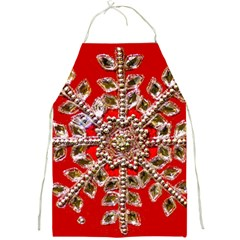 Snowflake Jeweled Full Print Aprons