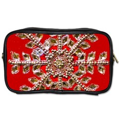 Snowflake Jeweled Toiletries Bags