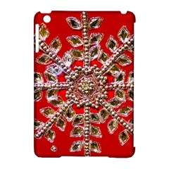 Snowflake Jeweled Apple Ipad Mini Hardshell Case (compatible With Smart Cover)