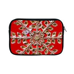 Snowflake Jeweled Apple Ipad Mini Zipper Cases by Nexatart