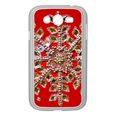 Snowflake Jeweled Samsung Galaxy Grand Duos I9082 Case (white)