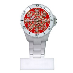 Snowflake Jeweled Plastic Nurses Watch