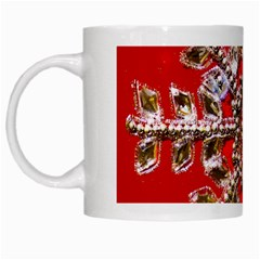 Snowflake Jeweled White Mugs