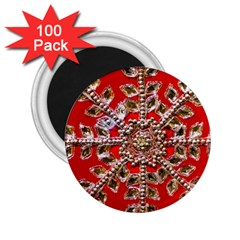Snowflake Jeweled 2 25  Magnets (100 Pack)