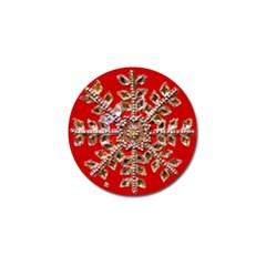 Snowflake Jeweled Golf Ball Marker