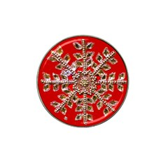 Snowflake Jeweled Hat Clip Ball Marker (10 Pack) by Nexatart
