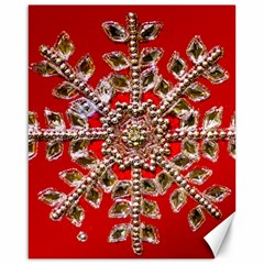 Snowflake Jeweled Canvas 16  X 20
