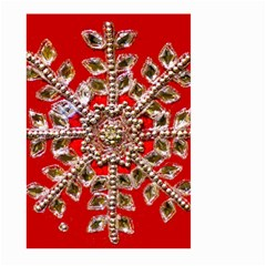 Snowflake Jeweled Large Garden Flag (two Sides)