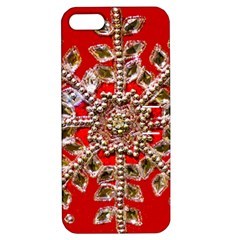 Snowflake Jeweled Apple Iphone 5 Hardshell Case With Stand