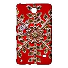 Snowflake Jeweled Samsung Galaxy Tab 4 (8 ) Hardshell Case  by Nexatart