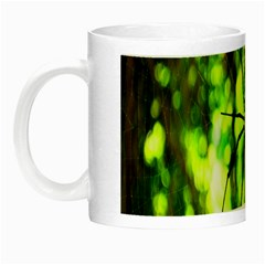 Spider Spiders Web Spider Web Night Luminous Mugs by Nexatart