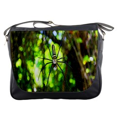 Spider Spiders Web Spider Web Messenger Bags by Nexatart