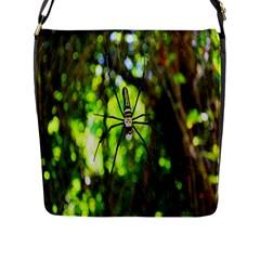 Spider Spiders Web Spider Web Flap Messenger Bag (l)