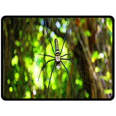 Spider Spiders Web Spider Web Double Sided Fleece Blanket (large)  by Nexatart