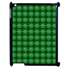 Snowflakes Square Apple Ipad 2 Case (black)
