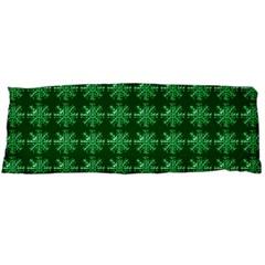 Snowflakes Square Body Pillow Case Dakimakura (two Sides) by Nexatart