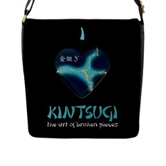 I Love Kintsugi Flap Closure Messenger Bag (l) by Tatami