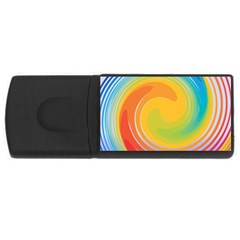 Rainbow Swirl Usb Flash Drive Rectangular (4 Gb) by OneStopGiftShop