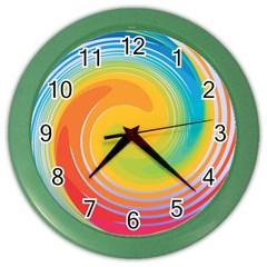 Rainbow Swirl Color Wall Clocks by OneStopGiftShop