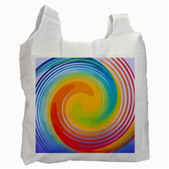 Rainbow Swirl Recycle Bag (two Side)  by OneStopGiftShop