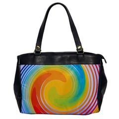 Rainbow Swirl Office Handbags by OneStopGiftShop