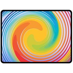 Rainbow Swirl Fleece Blanket (large)  by OneStopGiftShop