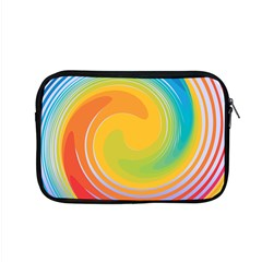 Rainbow Swirl Apple Macbook Pro 15  Zipper Case