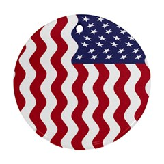 American Flag Ornament (round) by OneStopGiftShop