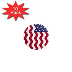 American Flag 1  Mini Magnet (10 Pack)  by OneStopGiftShop