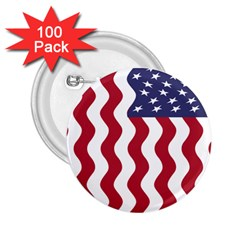 American Flag 2 25  Buttons (100 Pack)  by OneStopGiftShop
