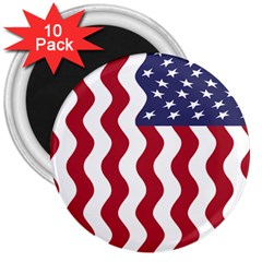 American Flag 3  Magnets (10 Pack)  by OneStopGiftShop