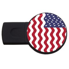 American Flag Usb Flash Drive Round (2 Gb) by OneStopGiftShop