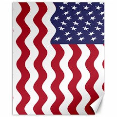 American Flag Canvas 11  X 14   by OneStopGiftShop