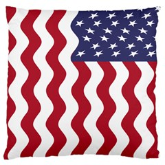 American Flag Large Cushion Case (two Sides) by OneStopGiftShop