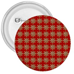 Snowflakes Square Red Background 3  Buttons