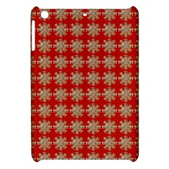Snowflakes Square Red Background Apple Ipad Mini Hardshell Case