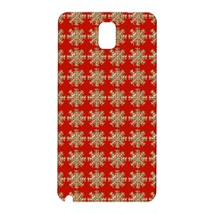 Snowflakes Square Red Background Samsung Galaxy Note 3 N9005 Hardshell Back Case