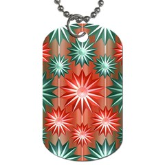 Star Pattern  Dog Tag (one Side)