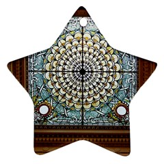 Stained Glass Window Library Of Congress Ornament (star) by Nexatart