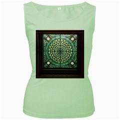 Stained Glass Window Library Of Congress Women s Green Tank Top by Nexatart