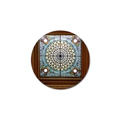 Stained Glass Window Library Of Congress Golf Ball Marker (4 Pack) by Nexatart