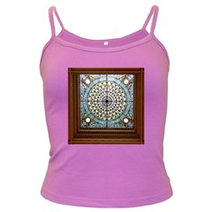 Stained Glass Window Library Of Congress Dark Spaghetti Tank by Nexatart
