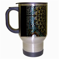 Stained Glass Window Library Of Congress Travel Mug (silver Gray) by Nexatart