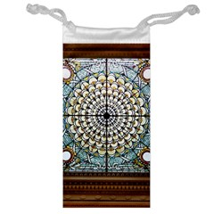 Stained Glass Window Library Of Congress Jewelry Bag by Nexatart
