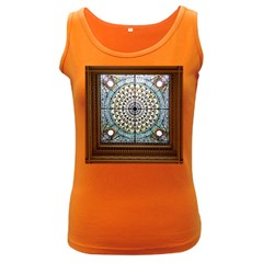 Stained Glass Window Library Of Congress Women s Dark Tank Top by Nexatart