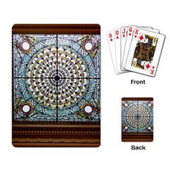 Stained Glass Window Library Of Congress Playing Card by Nexatart