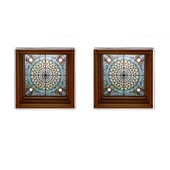 Stained Glass Window Library Of Congress Cufflinks (square) by Nexatart